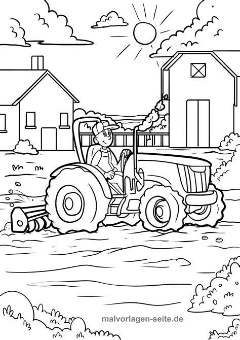 Malvorlage Bauernhof Kinder