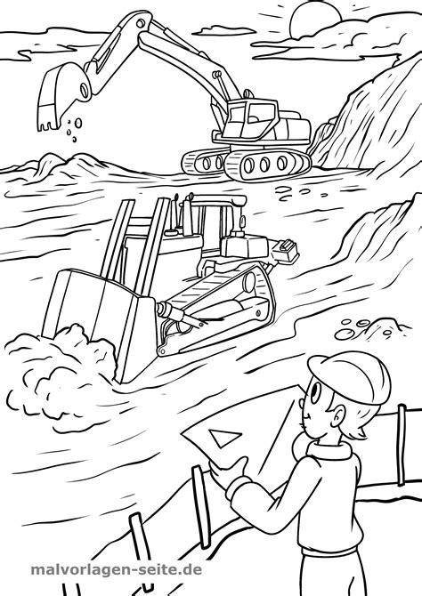 Malvorlage Baustelle