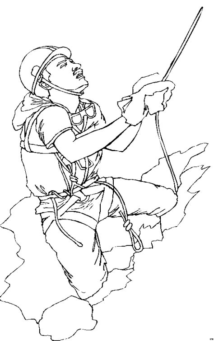 Malvorlage Bergsteiger