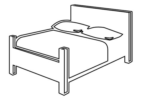 Malvorlage Bett