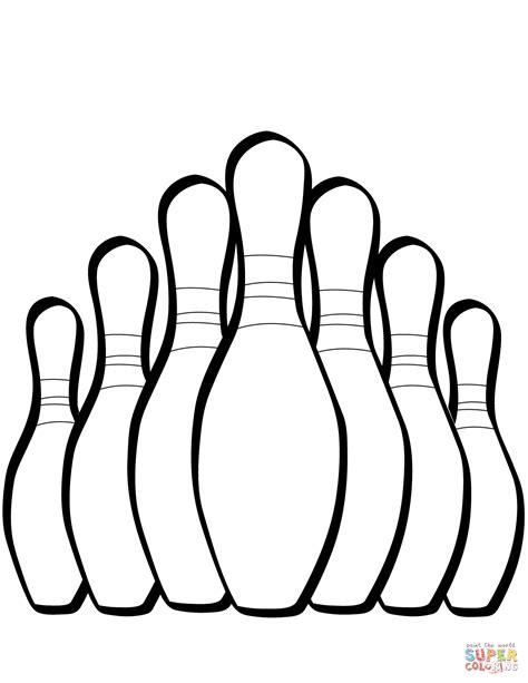 Malvorlage Bowling Pin
