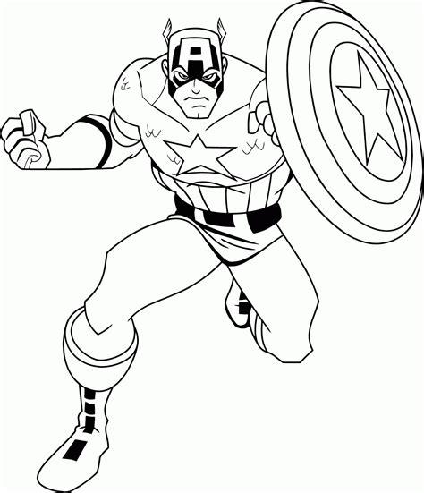 Malvorlage Captain America
