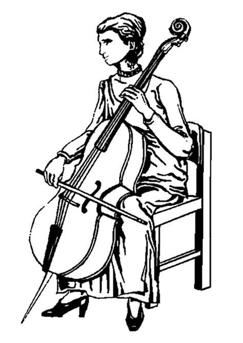 Malvorlage Cello