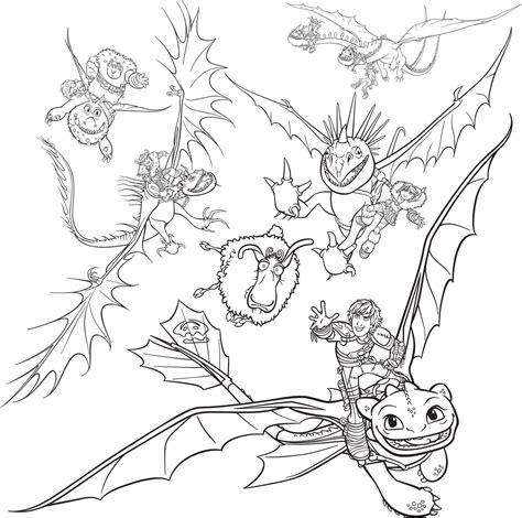 Malvorlage Dragons 2