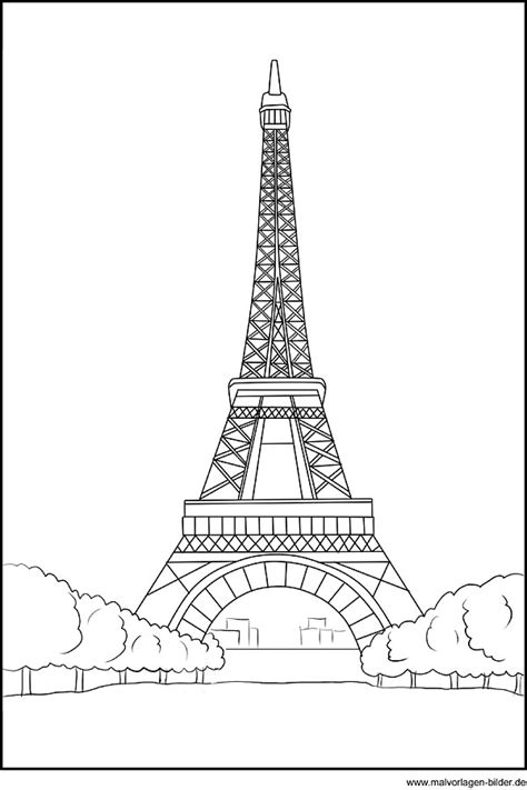 Malvorlage Eiffelturm