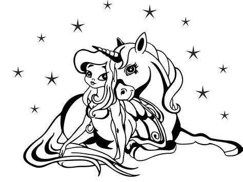 Malvorlage Einhorn Prinzessin