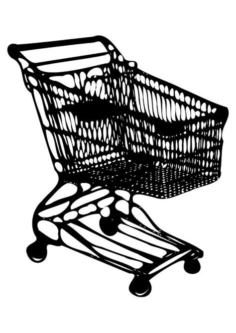 Malvorlage Einkaufswagen
