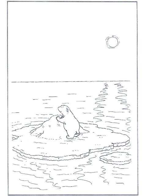 Malvorlage Eisbär Auf Scholle