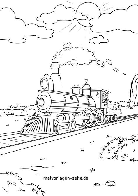 Malvorlage Eisenbahn Gratis