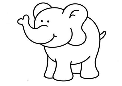Malvorlage Elefant Einfach