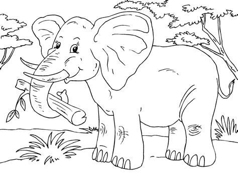 Malvorlage Elefant Kostenlos