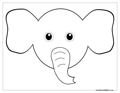 Malvorlage Elefantenkopf