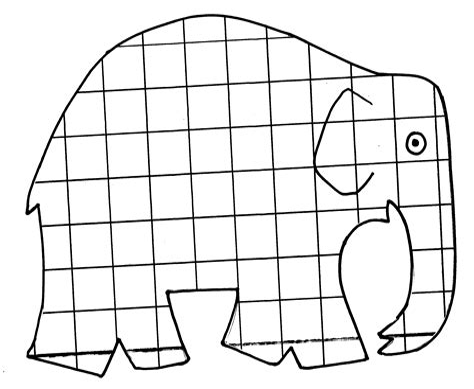 Malvorlage Elmar Der Elefant