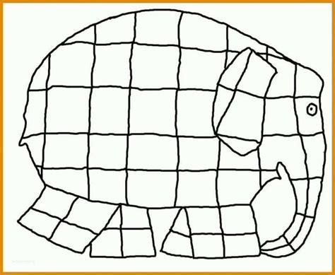 Malvorlage Elmar Elefant