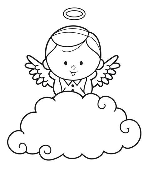 Malvorlage Engel Auf Wolke
