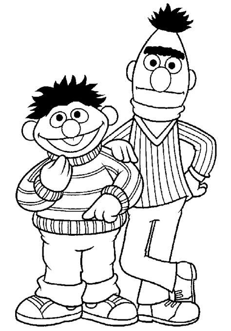 Malvorlage Ernie Und Bert