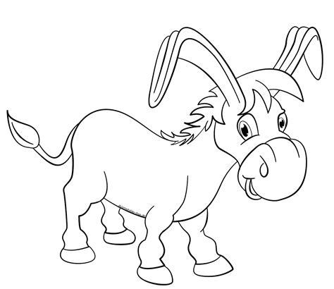 Malvorlage Esel Einfach