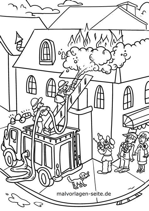 Malvorlage Feuerwehr Ausmalen