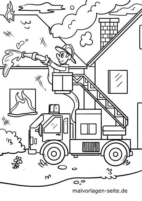 Malvorlage Feuerwehr Kostenlos