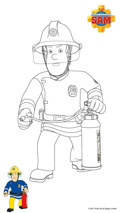Malvorlage Feuerwehr Sam