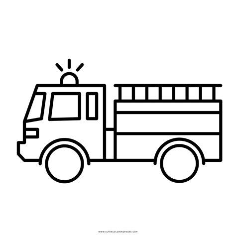 Malvorlage Feuerwehrauto Einfach