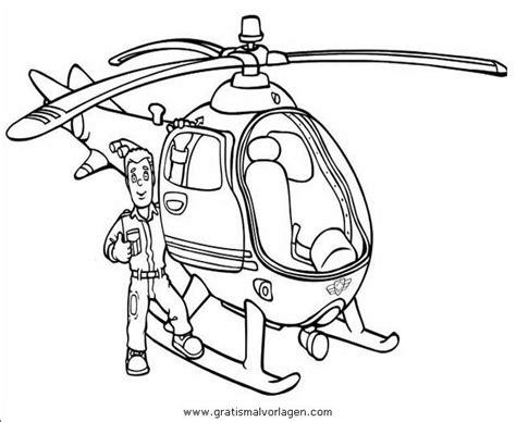 Malvorlage Feuerwehrmann Sam Hubschrauber