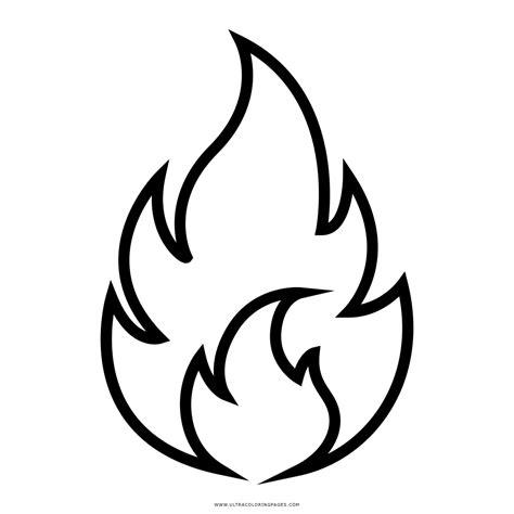 Malvorlage Flammen