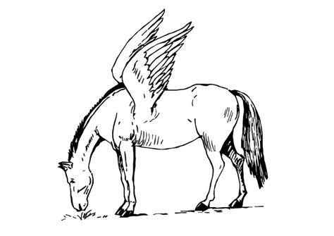Malvorlage Fliegendes Pferd