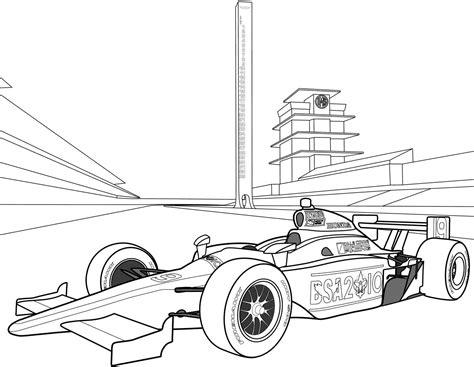 Malvorlage Formel 1 Rennwagen