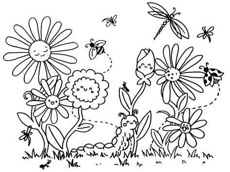 Malvorlage Frühlingswiese