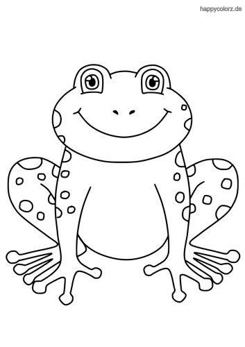 Malvorlage Frosch Kopf
