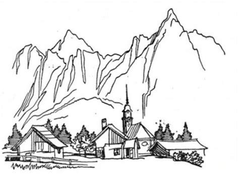 Malvorlage Gebirge