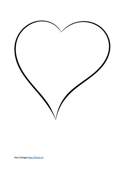 Malvorlage Geschwungenes Herz