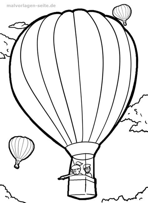 Malvorlage Heißluftballon