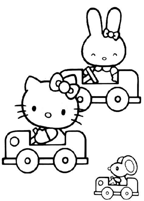 Malvorlage Hello Kitty