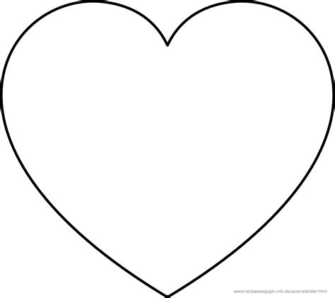 Malvorlage Herz Groß