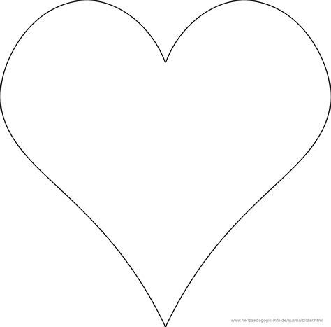 Malvorlage Herzform