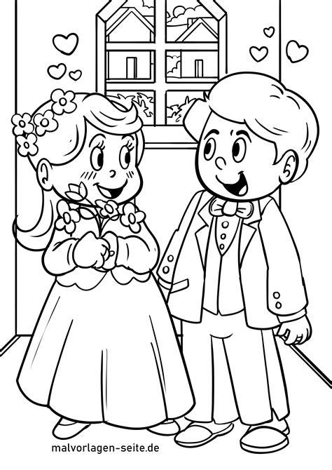 Malvorlage Hochzeit Kinder