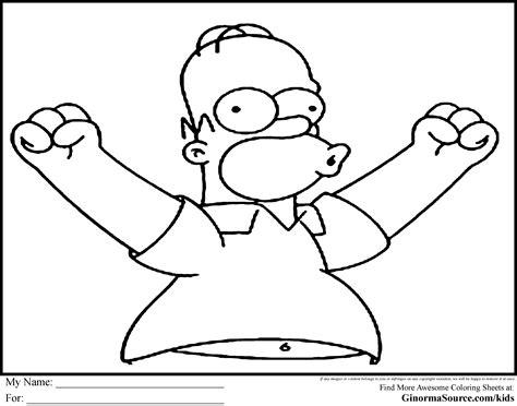Malvorlage Homer Simpson