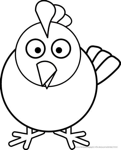 Malvorlage Huhn Einfach