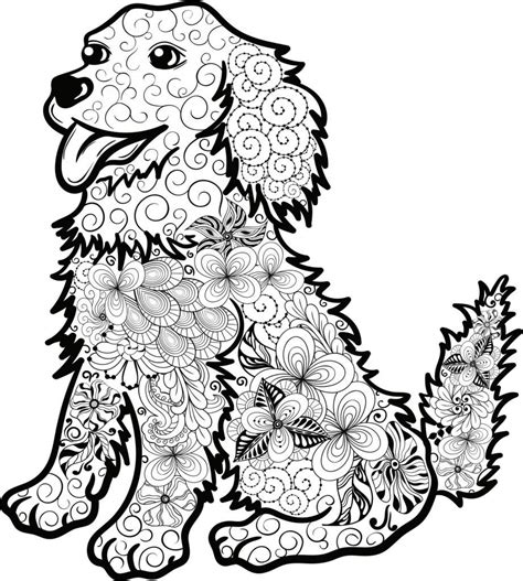 Malvorlage Hund Mandala