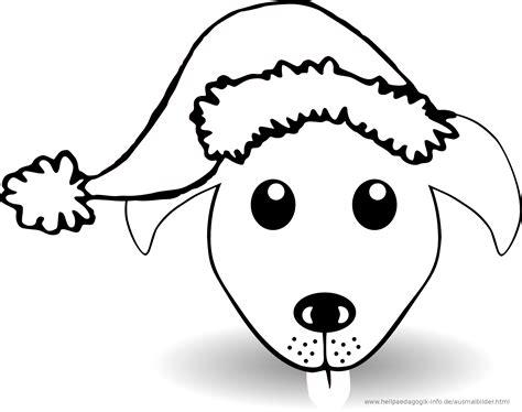 Malvorlage Hund Weihnachten