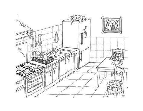 Malvorlage Küche