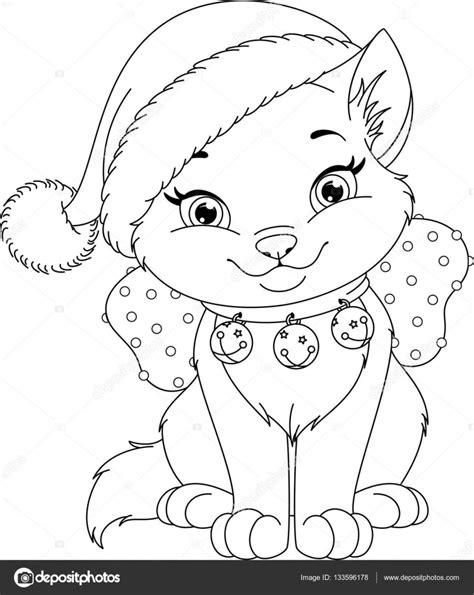 Malvorlage Katze Weihnachten