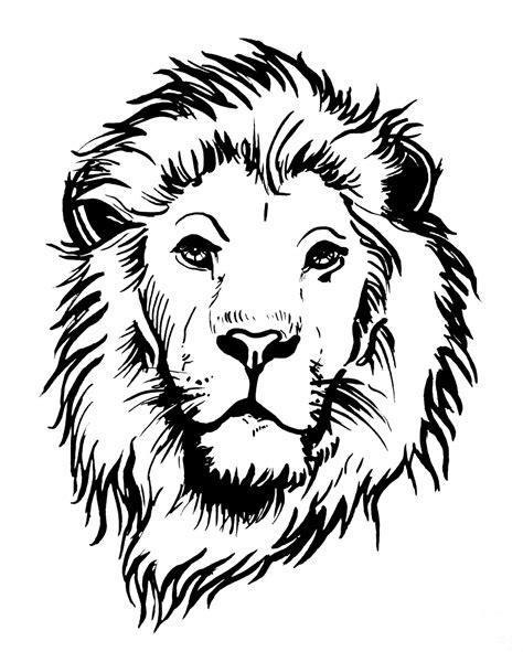 Malvorlage Löwenkopf Einfach
