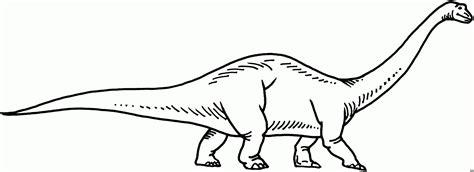 Malvorlage Langhals Dino