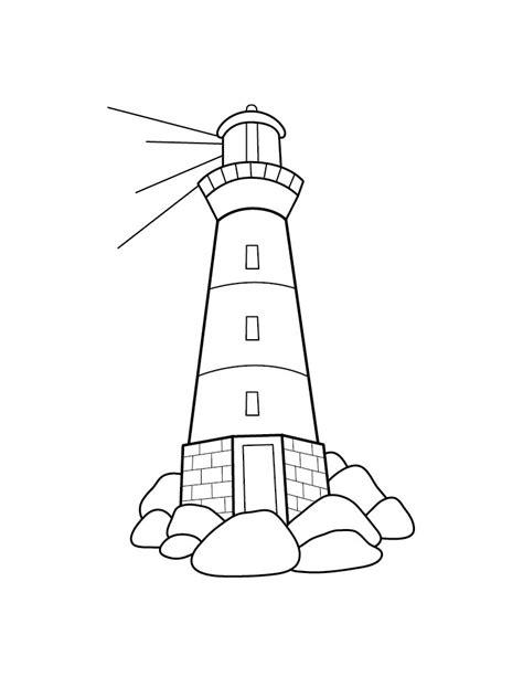 Malvorlage Leuchtturm