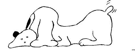 Malvorlage Liegender Hund