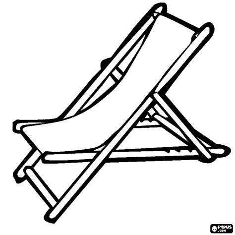 Malvorlage Liegestuhl