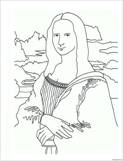 Malvorlage Mona Lisa